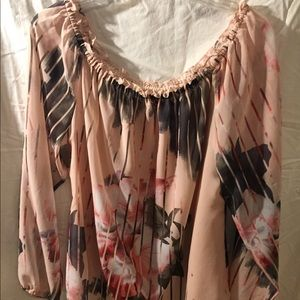 WHBM multi color blouse